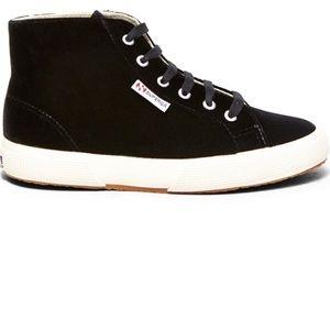 Velvet Hightop Sneaker